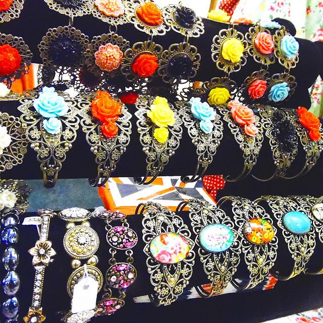 Costume jewellery at lou lou's vintage fair, Cardiff | ACupofT