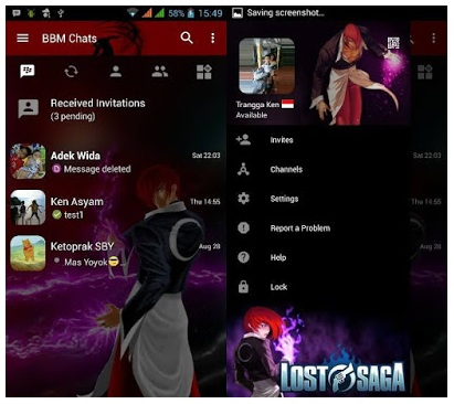BBM Mod Lost Saga Based Official V3.0.1.25 Apk