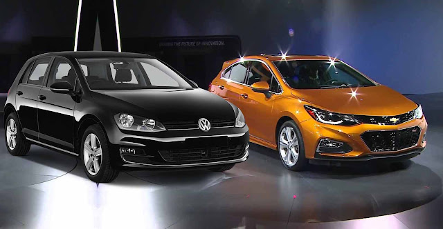 VW Golf 2017 x Novo Chevrolet Cruze Hatch