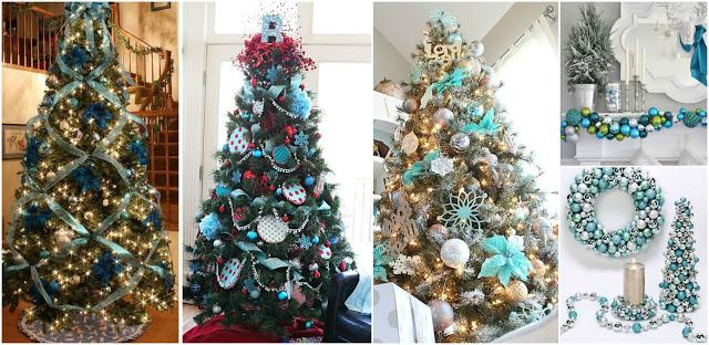 decoración-arboles-navideños-tonos-azules