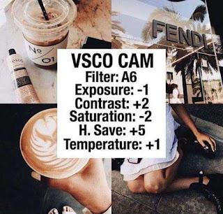 Kumpulan Rumus Edit VSCO