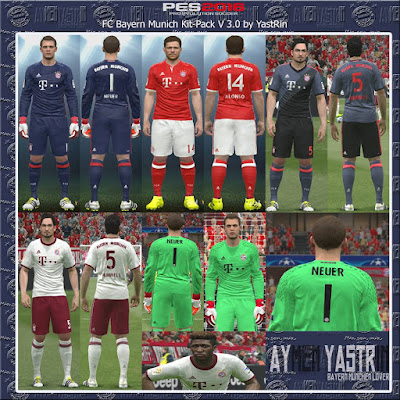 PES 2016 FC Bayern Munich Kit-Pack V3.0