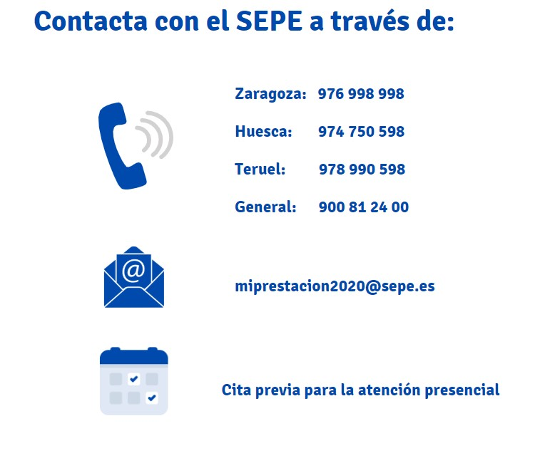 Teléfonos de información del SEPE