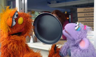 Murray and Ovejita, appear in the Cooking School sketch from the Murray Has a Little Lamb series. Sesame Street C is for Cooking
