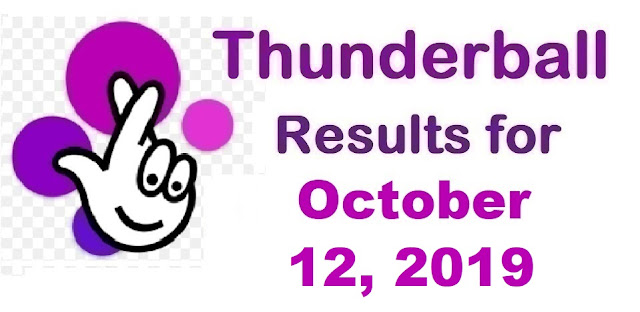Thunderball Results for Saturday, October 12, 2019