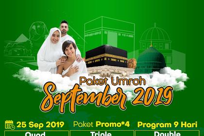 Biaya Paket Umroh Promo September 2019