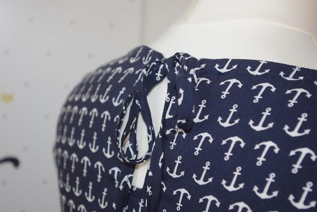Kimono Tee MariaDenmark aus Webware (Viscose) mit Keyhole