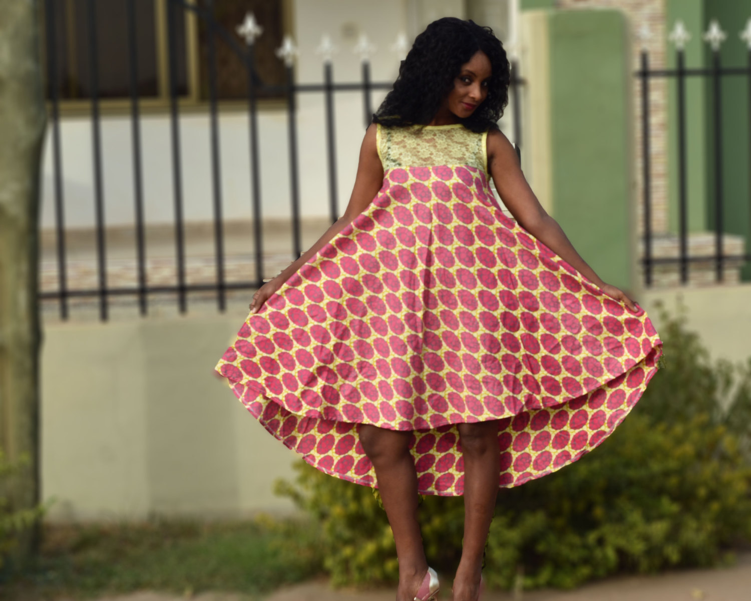 Beautiful Maternity Ankara Short Gown