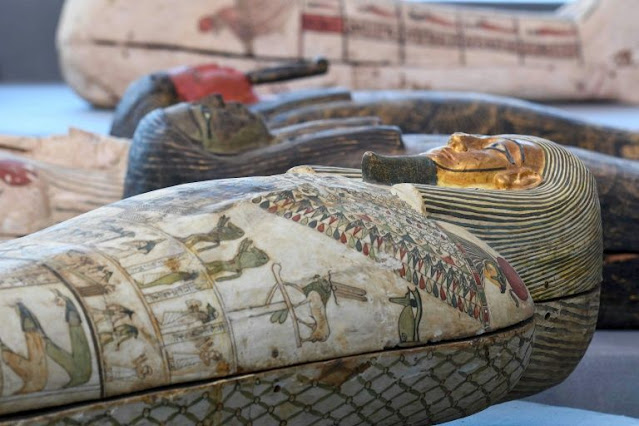Egypt finds treasure trove of over 100 sarcophagi at Saqqara