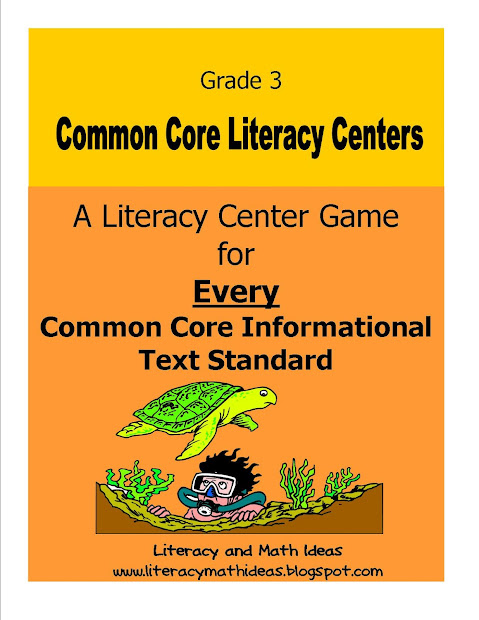 Literacy & Math Ideas Resources Common Core Standards