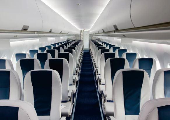 Sukhoi Superjet 100 cabin