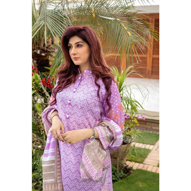Gul Ahmed light purple color suit unstitched mother's collection