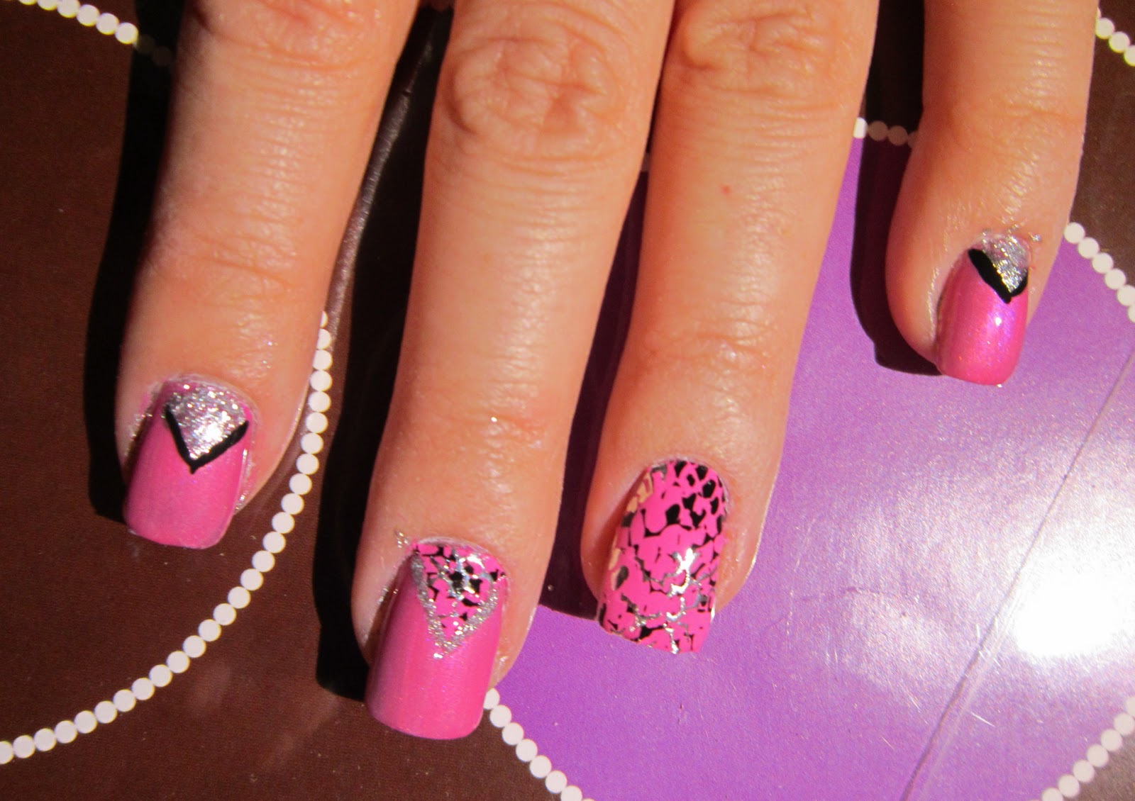 Little Lady Luxury: Design FX Pink Snake Skin Nail Stickers