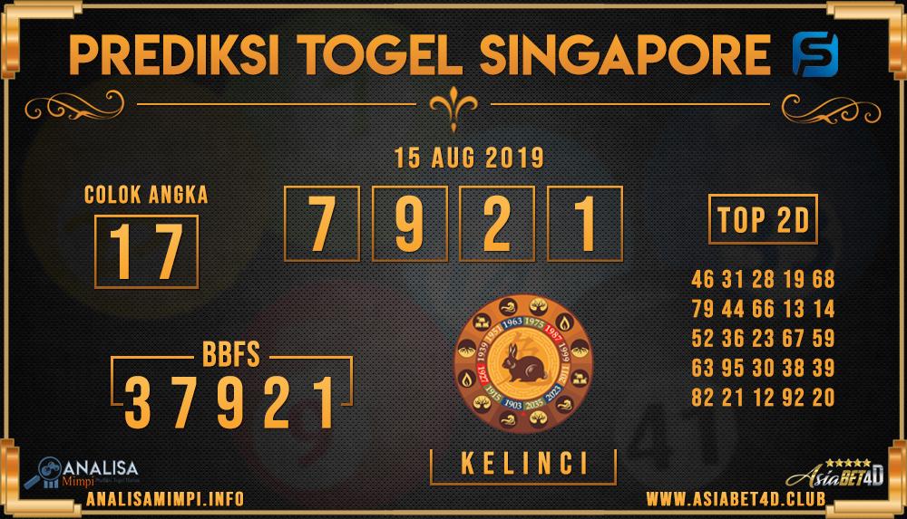 PREDIKSI TOGEL SINGAPORE ASIABET4D 15 AUG 2019