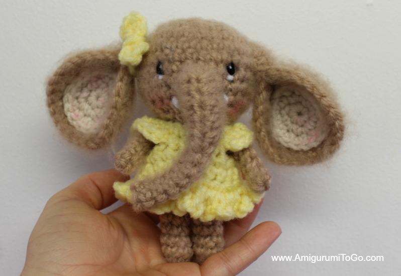 small crochet elephant