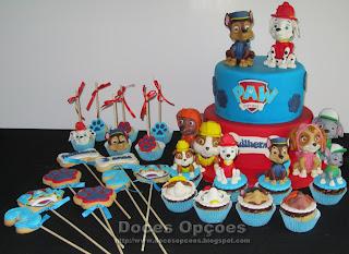 cake bolachas cake pops cupcakes paw patrol