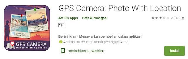 gps camera photo with location