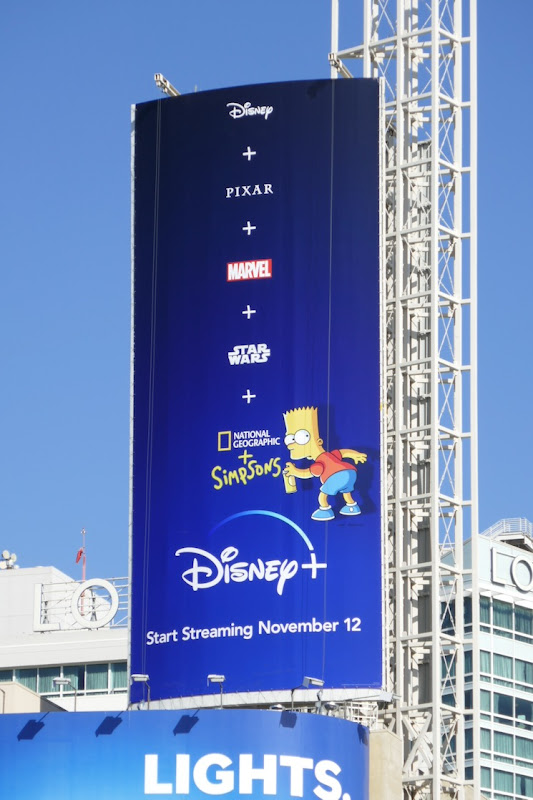 Disney plus launch Bart Simpson billboard