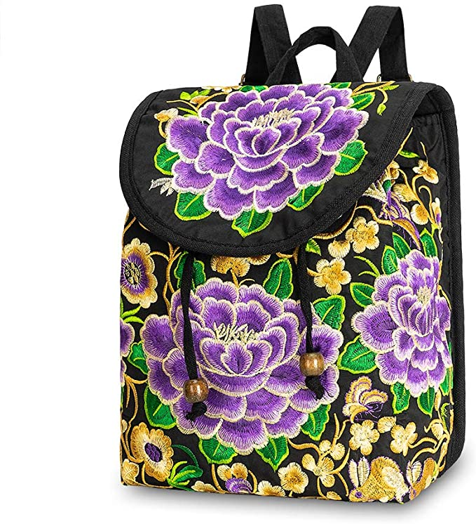 Embroidered Backpack Purse for Women  40% OFF