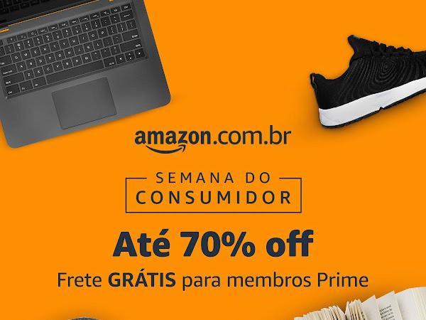 Semana do Consumidor Amazon com até 70% off em todas as categorias, incluindo livros, e-books e Kindles