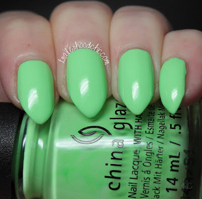 china glaze lite brites collection swatch lime after lime