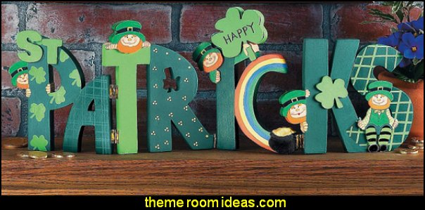 Shamrocks, Leprechauns, and Rainbows - St. Patrick's Day Tabletop Home Decor