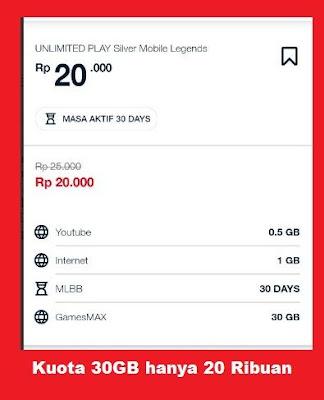 Mulai dari promo paket internet murah Telkomsel harian Promo Paket Internet TELKOMSEL 30GB cuma 20Rb Kejutan GAMESMAX Terbaru