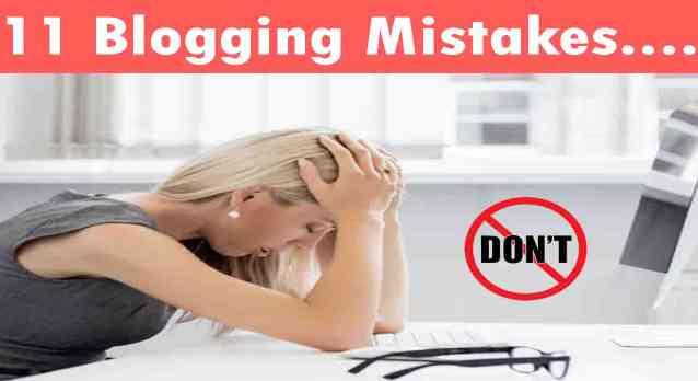 Amateur Blogger Mistake