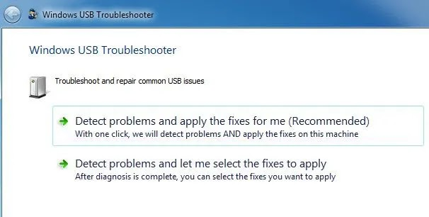 USB Troubleshooter