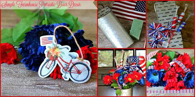 Ten On The Tenth Challenge Using Red, White and Blue themes for Door Decor At Home With Jemma