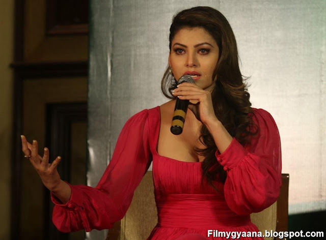 urvashi rautela red dress photo