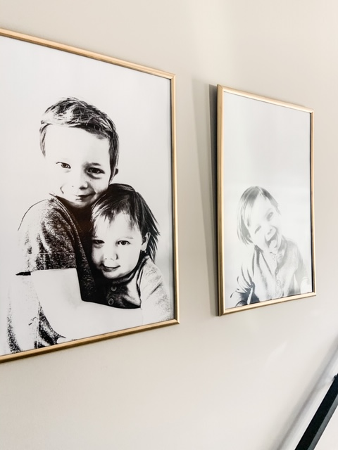 diy large black and white pictures diy gold frame