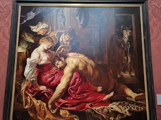 National gallery de Londres, Sansón y Dalila de Rubens.