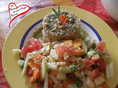Ensalada de quinoa y papaya