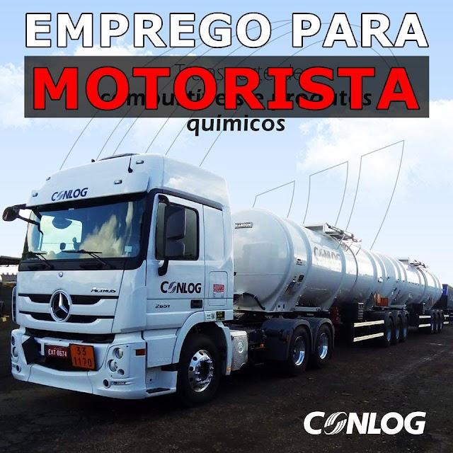 Transportadora Conlog abre vagas para Motorista Carreteiro