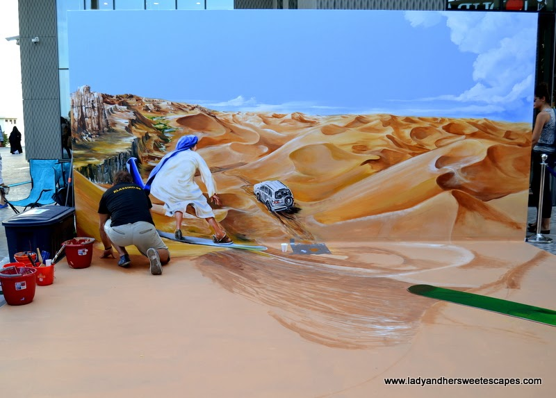3D art in the making at Dubai Canvas