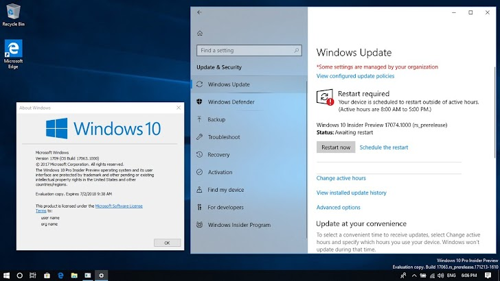 Windows 10 Insider Preview Build 17074 Tersedia Untuk Fast Ring dan Skip Ahead