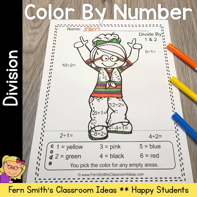 Click Here to Download This Back to School Happy Students Color By Number Division For Your Class Today!