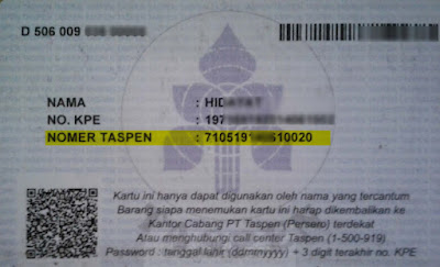 nomor tAspen dan tanggal taspen