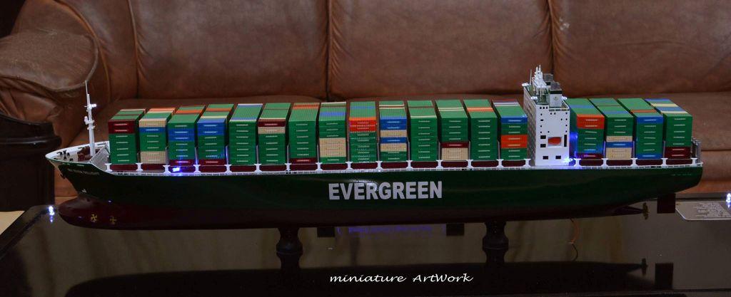 produsen pembuat miniatur kapal container ever delight evergreen temanggung jawa tengah