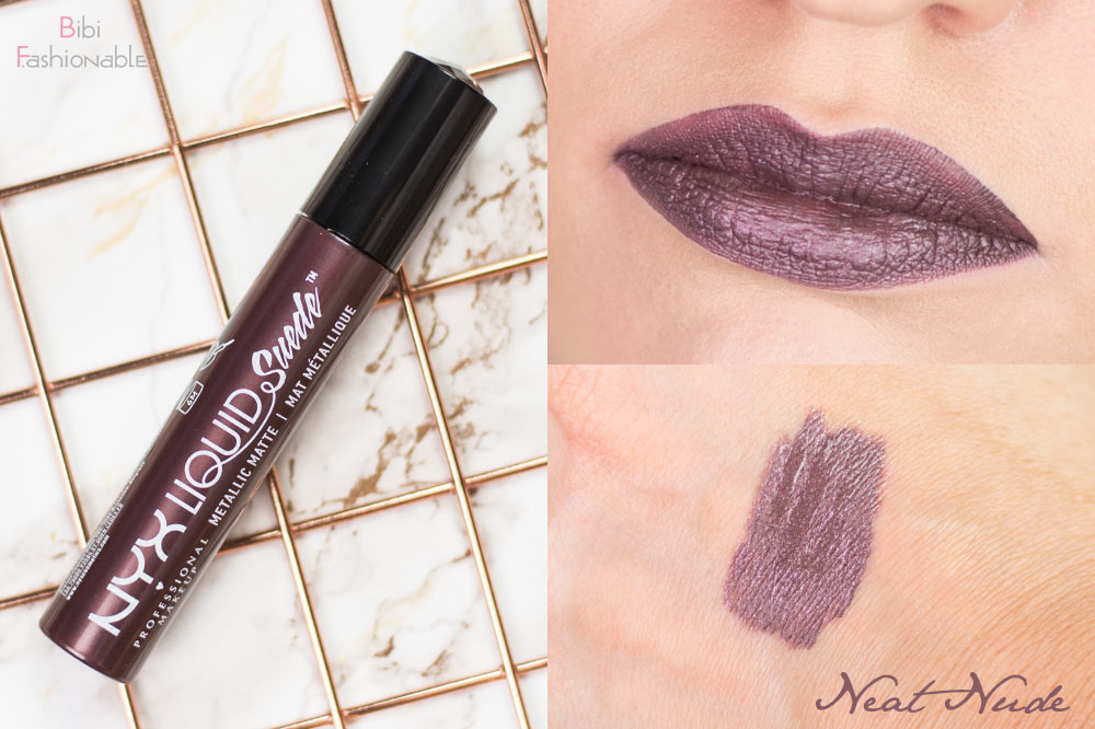 NYX Liquid Suede Metallic Matte Creme Lipstick LSCL32 Neat Nude inkl Swatches