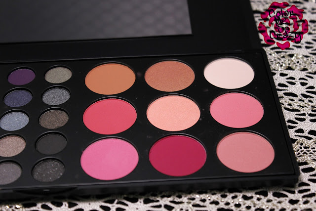 bh cosmetics, eyeshadow palette, blush, highlight and contour, makeup brush, blending