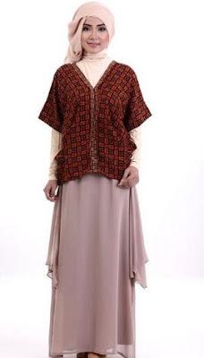 desain baju batik muslim terbaru