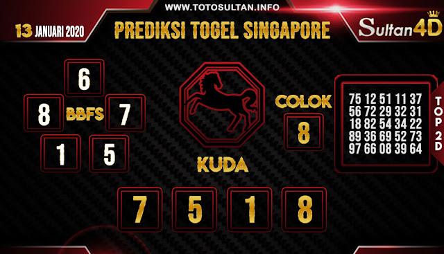 PREDIKSI TOGEL SINGAPORE SULTAN4D 13 JANUARI 2020