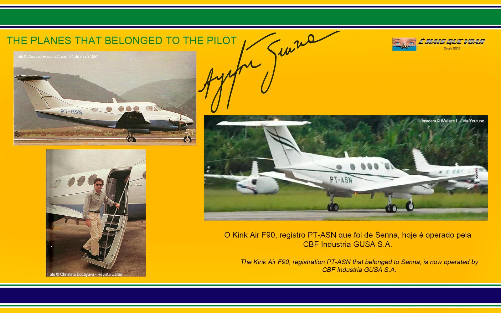 PT-ASN - Beechcraft King Air F90 - Os helicópteros e os aviões que foram do piloto Ayrton Senna? | É MAIS QUE VOAR