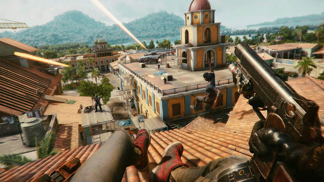 far cry 6 guerrilla fighter open world first-person shooter amazon luna google stadia pc playstation ps4 ps5 xbox one series x/s xb1 x1 xsx ubisoft giancarlo esposito anthony gonzalez