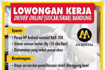 Lowongan Kerja Driver Online Gocar dan Grab Bandung