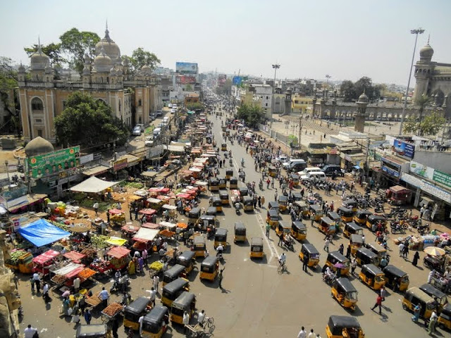 Views from Charminar in Hyderabad India
