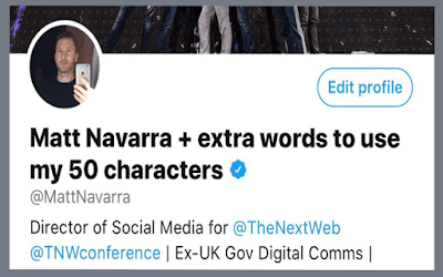 O Twitter agora permite que você digite seu nome em sua conta com 50 caracteres