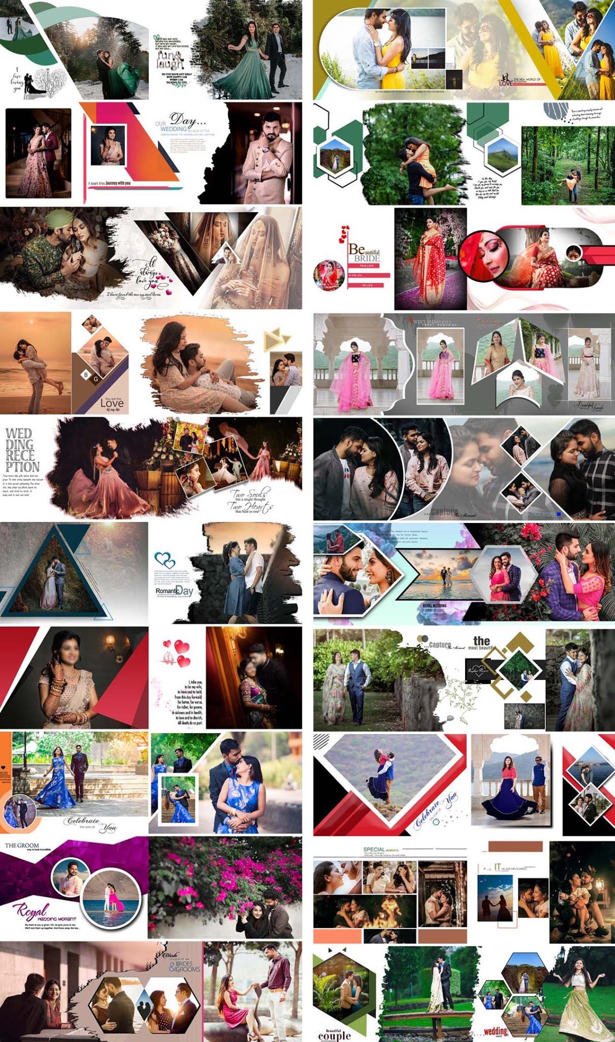 Creative 2021 Pre-Wedding Photo Album Designs